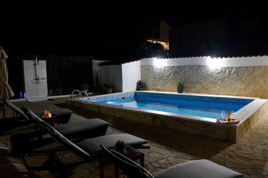 Villa Sanda Night Swimming Pool