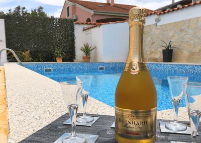 Villa Sanda Private Swimming Pool With Champagne